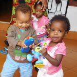 Emmanuel, Bahati and Linda.