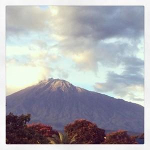 Mount Meru overlooks Arusha